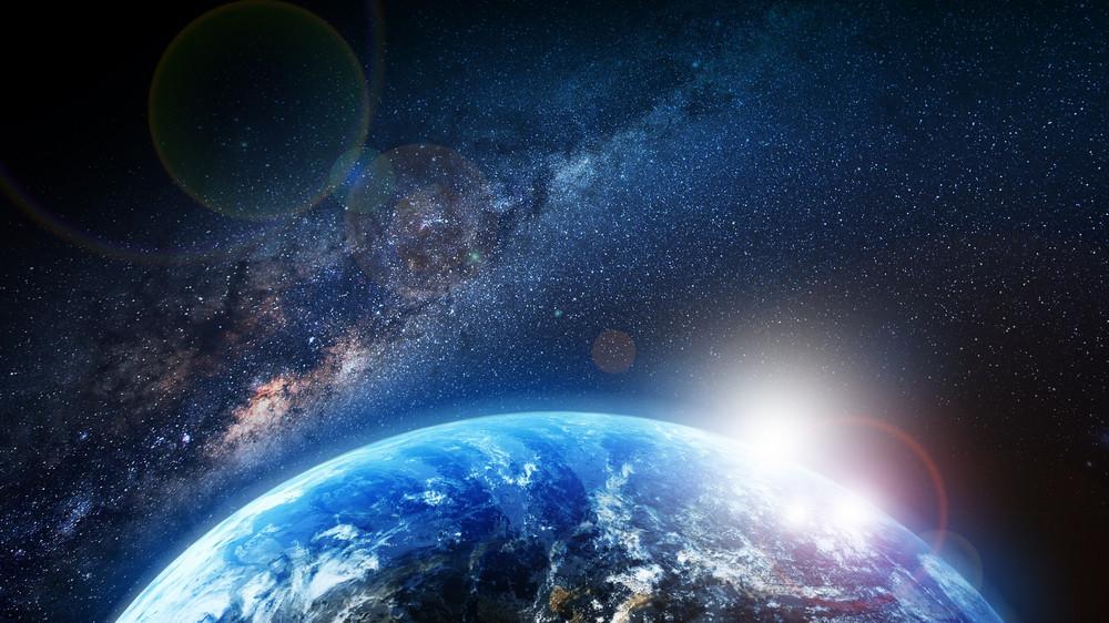 은하 우주 일출
