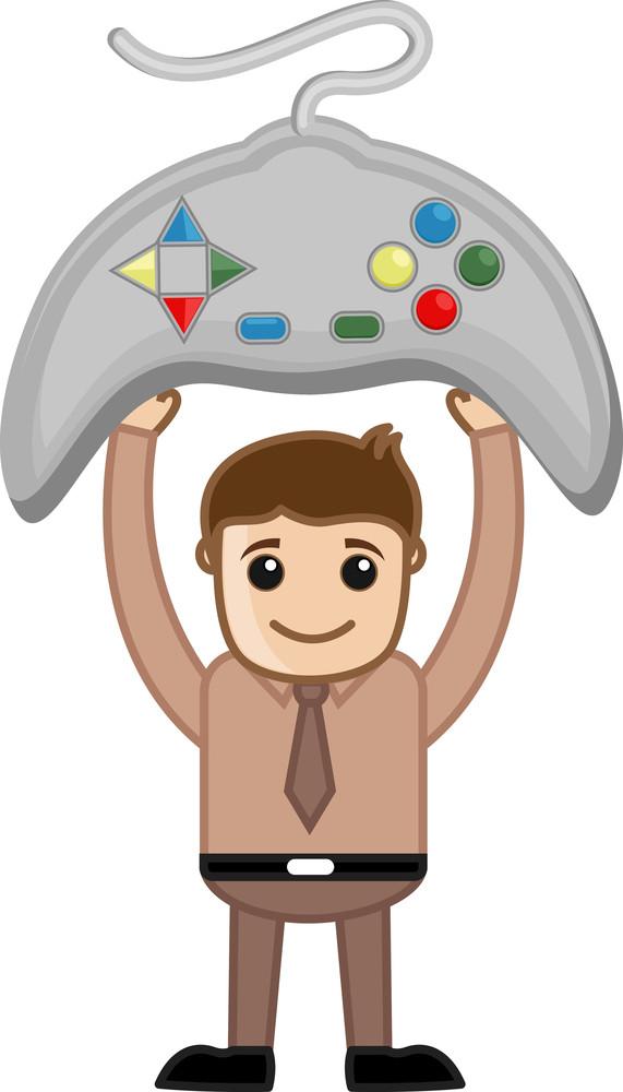 Gaming - Business Cartoons Vectors