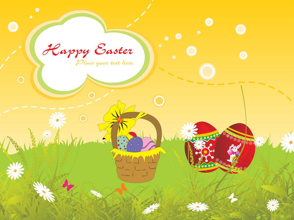 Garden Background Pattern For Easter Day