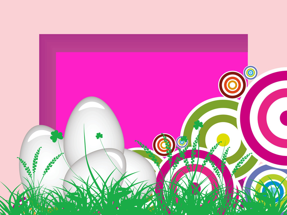 Garden Background With Colorful Circle