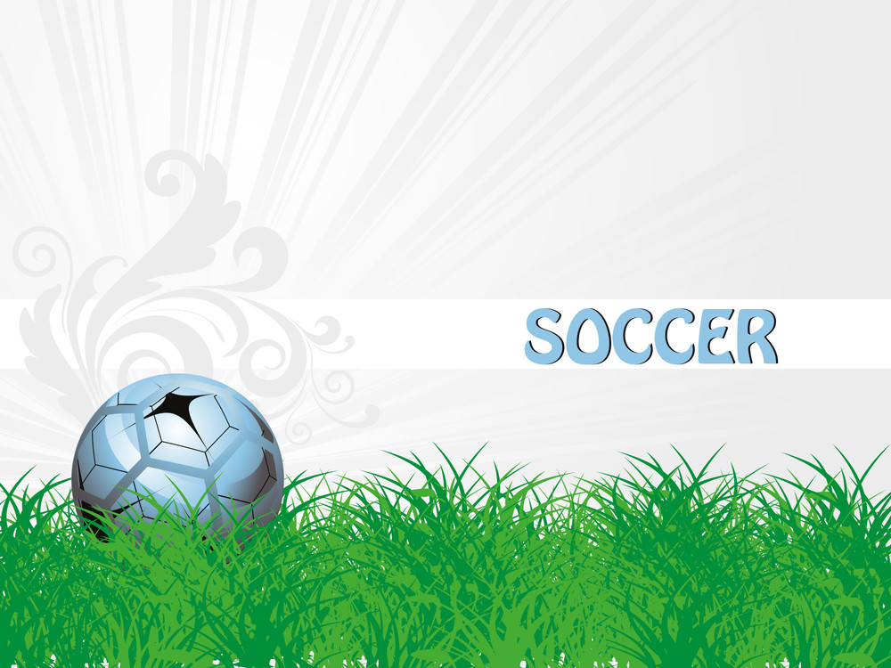 Garden Background With Isolated Football