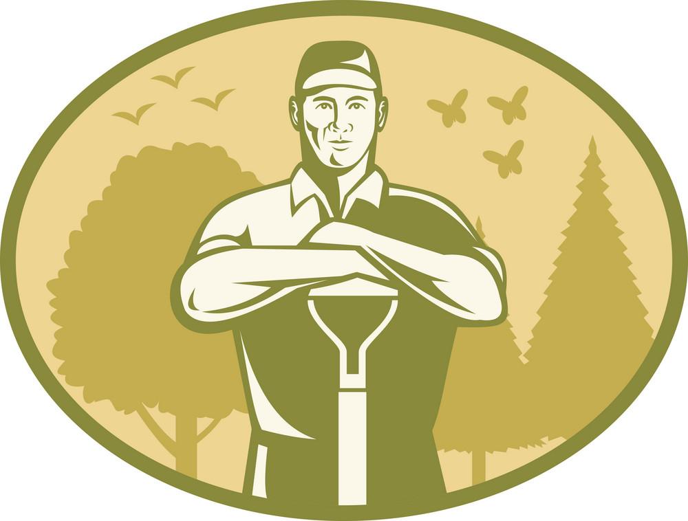 Gardener Landscaper Farmer Retro