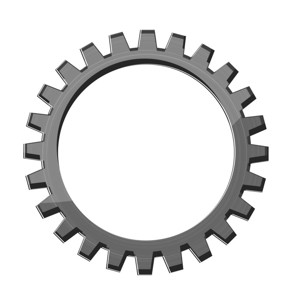Gear Wheel Tooth Vector