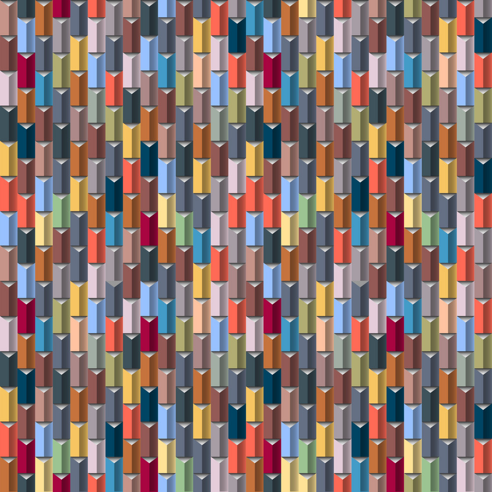Geometric Multicolored Seamless Vector