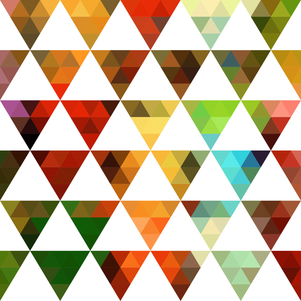 Geometric Pattern Of Triangles Shapes. Colorful Mosaic Backdrop. Geometric Hipster Retro Background