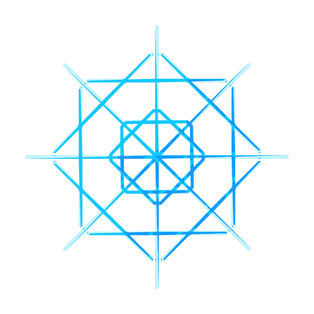 Geometric Snowflake Design