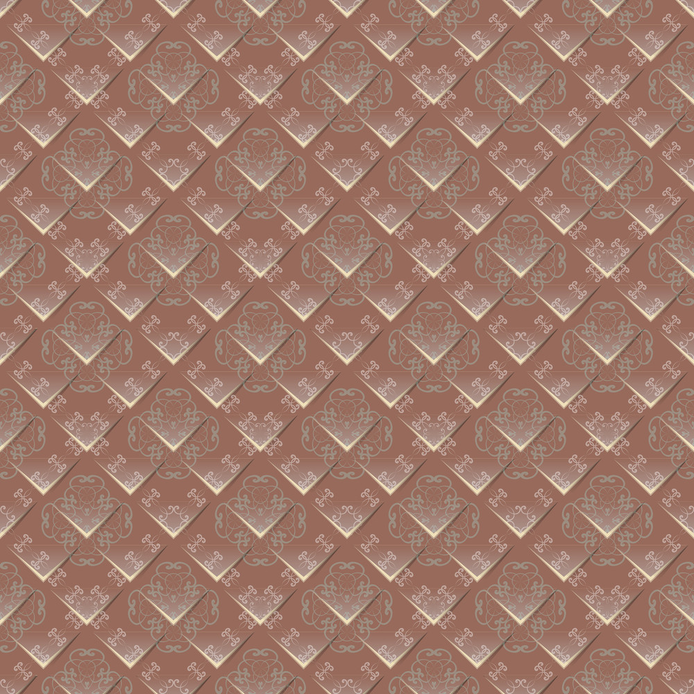 Geometrical Ornament Cut Out On A Standard Sheet With Floral Background. Seamless Texture. Vector.