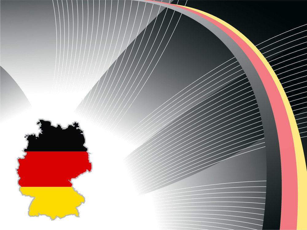 German Map In Flag Pattern