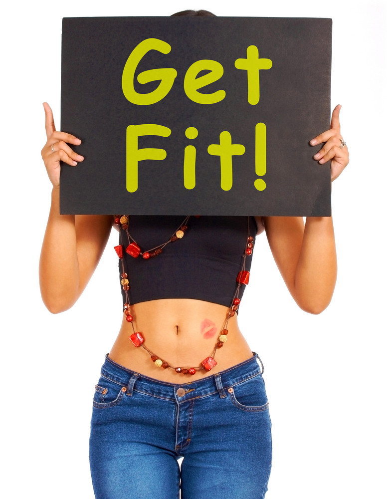 Get Fit Sign Showing Exercise For Fitness