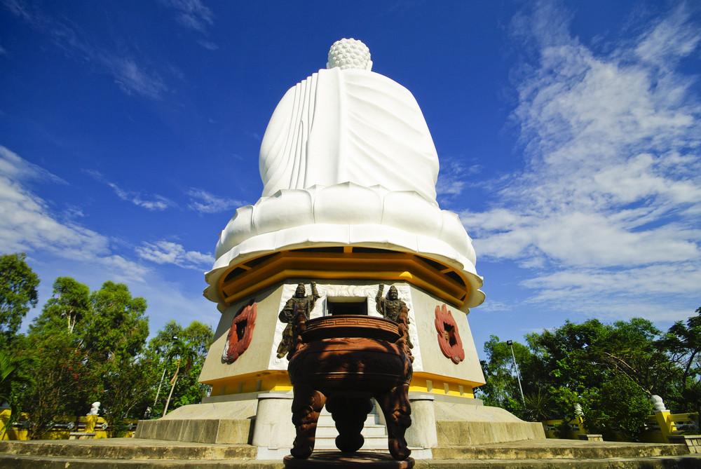 Giant white Buddha in Natrang Vietnam