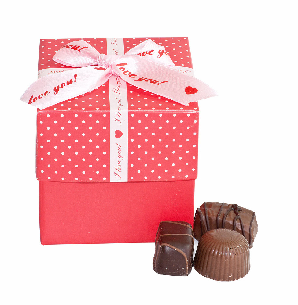 Gift Box And Chocolate