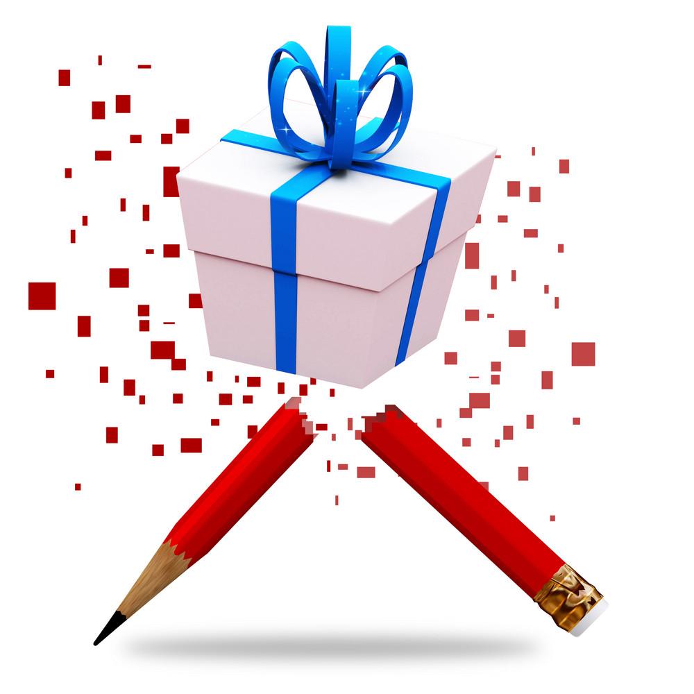 Gift Box Hand Drawing Sketch Illustration