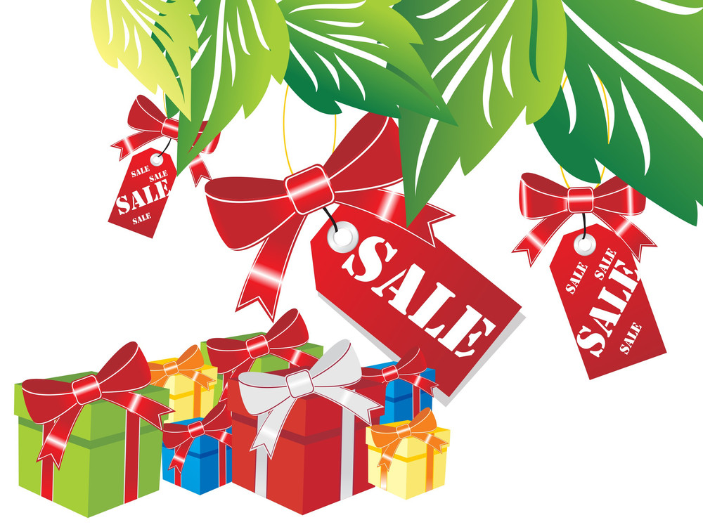 Gift Box With Sale Tag