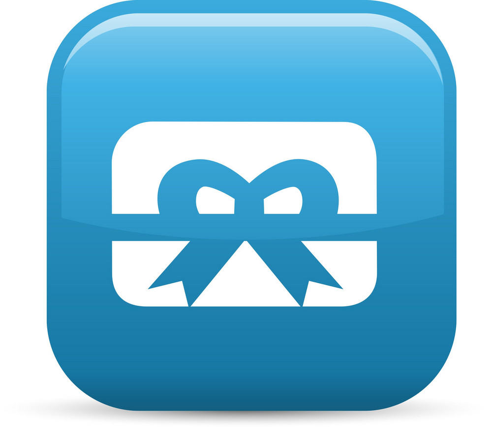 Gift Card Bow Elements Glossy Icon