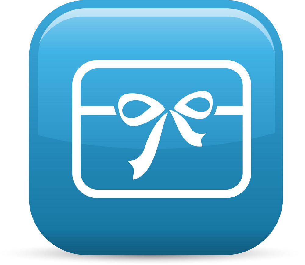 Gift Card Elements Glossy Icon
