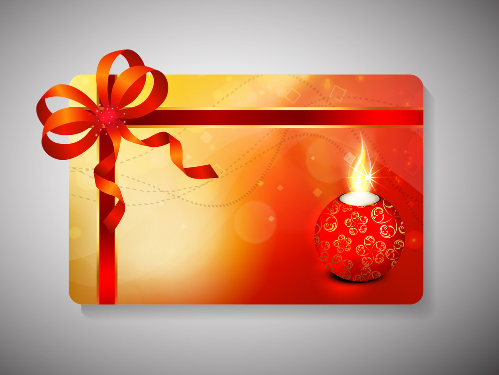 Gift Card For Deepawali Or Diwali Festival In India.