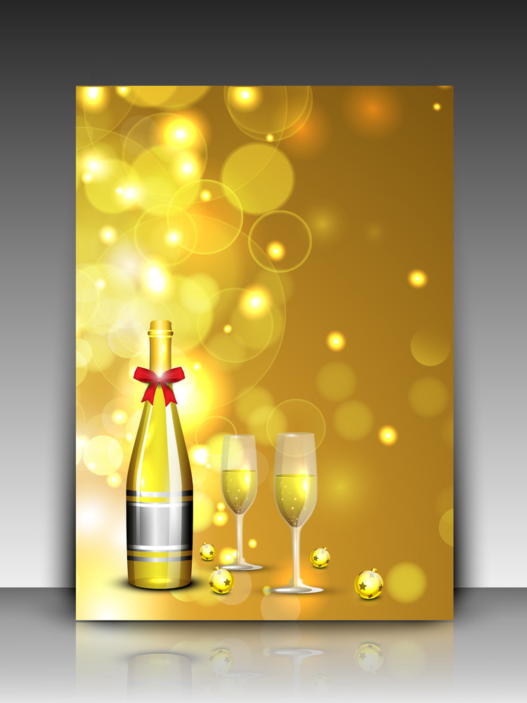 Gift Card On Shiny Snowflakes Background