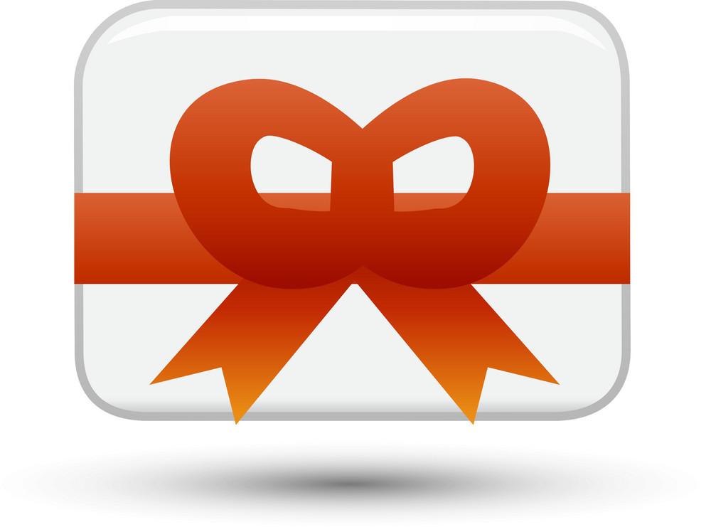 Gift Card White Lite Communication Icon