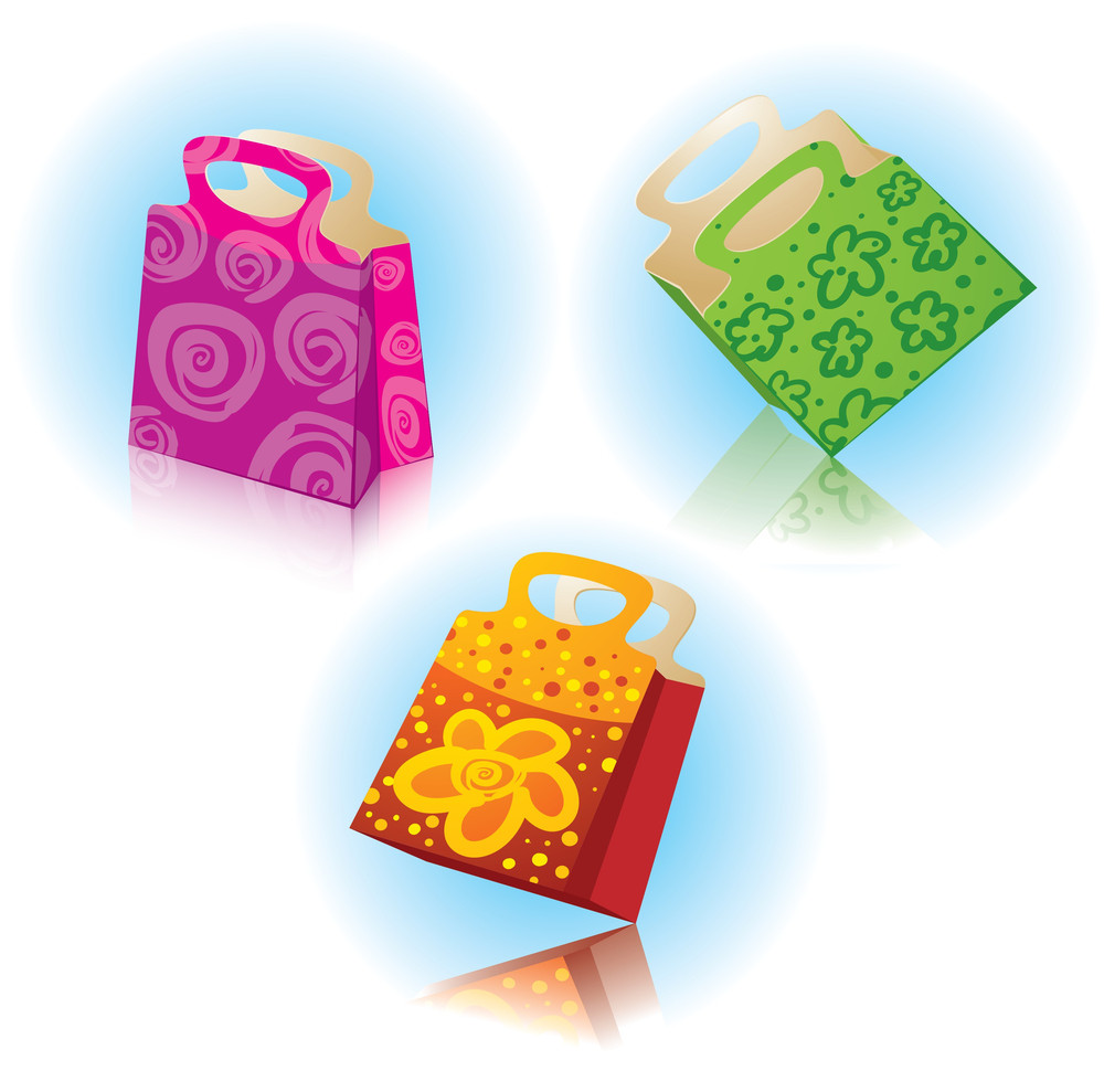 Gift Packages. Vector.
