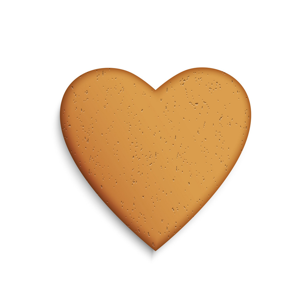 Gingerbread Cookie In The Shape Of A Heart