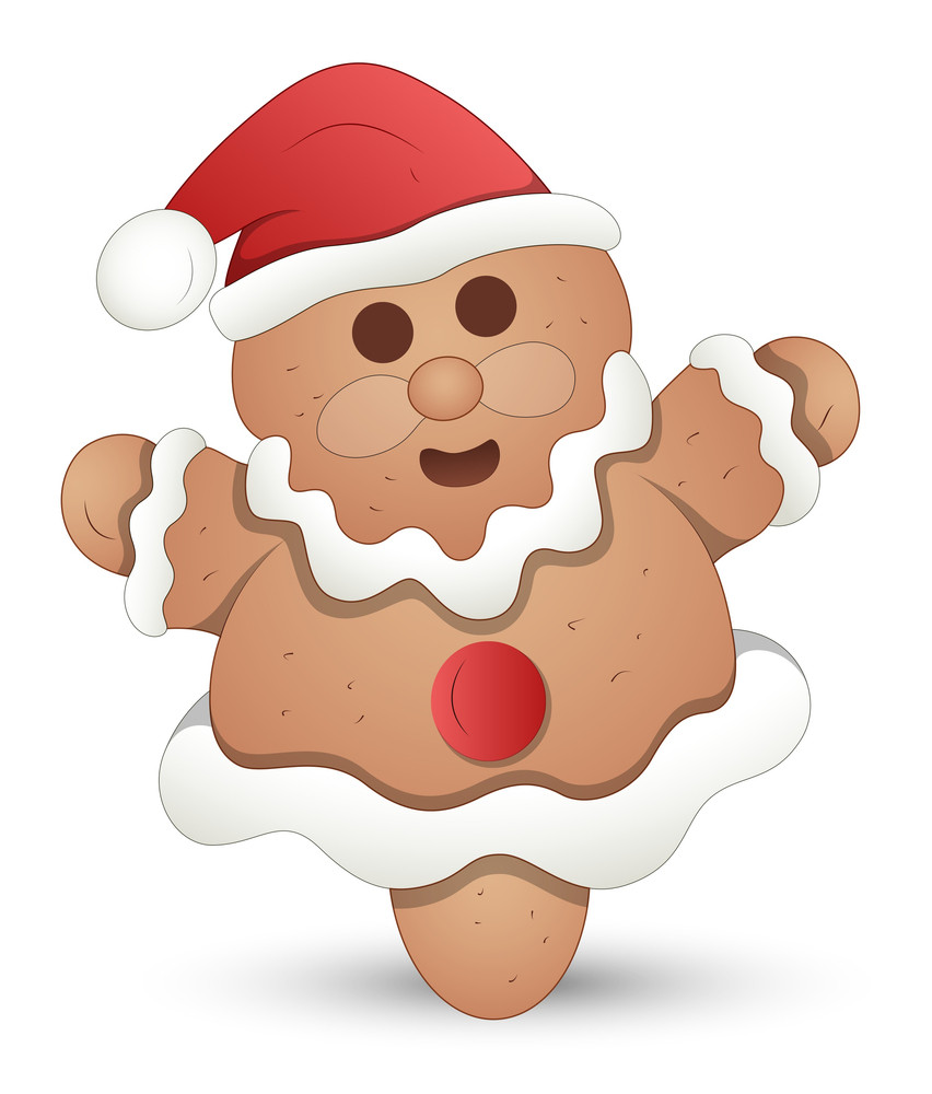 Gingerbread Man - Christmas Vector Illustration