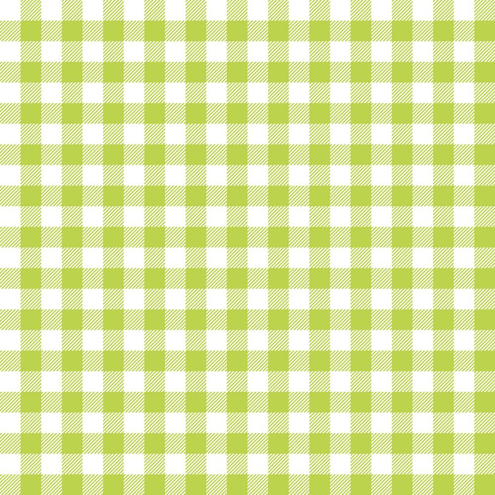 Green Gingham Pattern