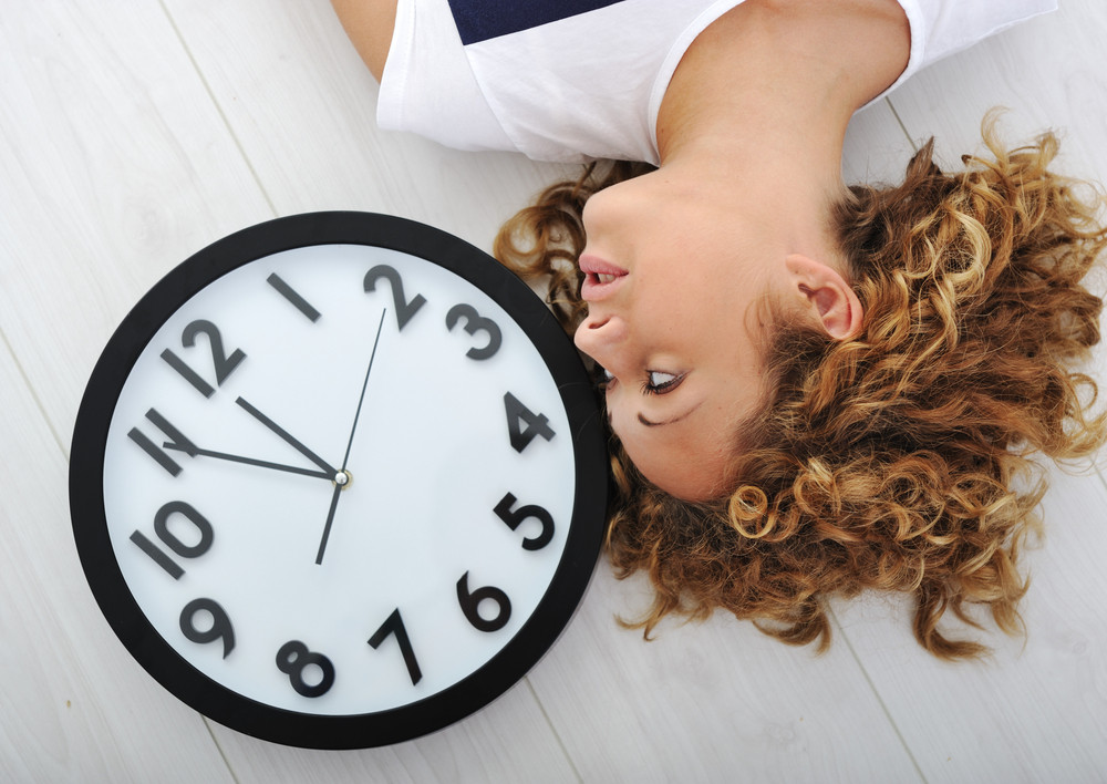 Girl and clock