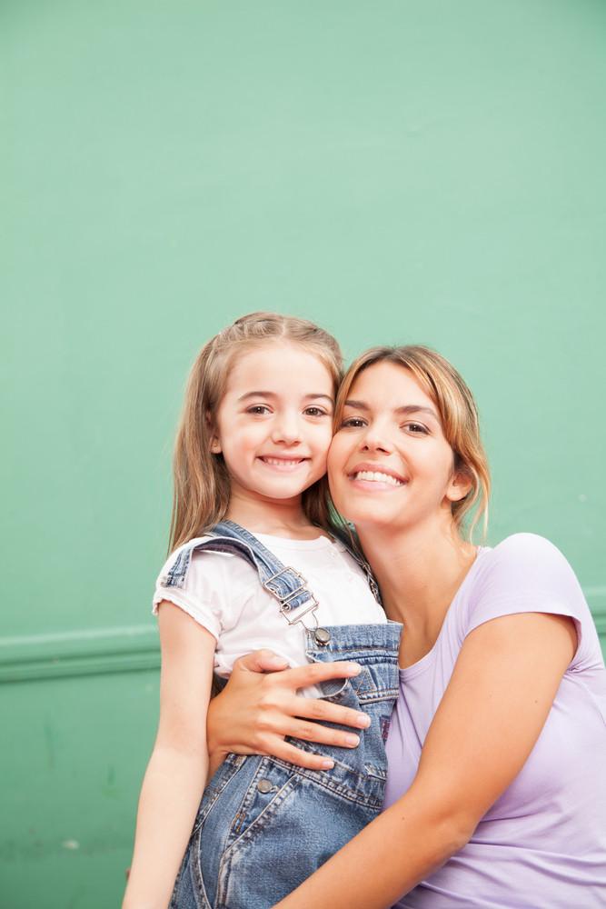 Girl and teacher in kindergarten