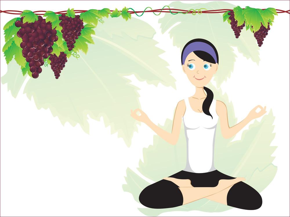 Girl Doing Yoga With Background
