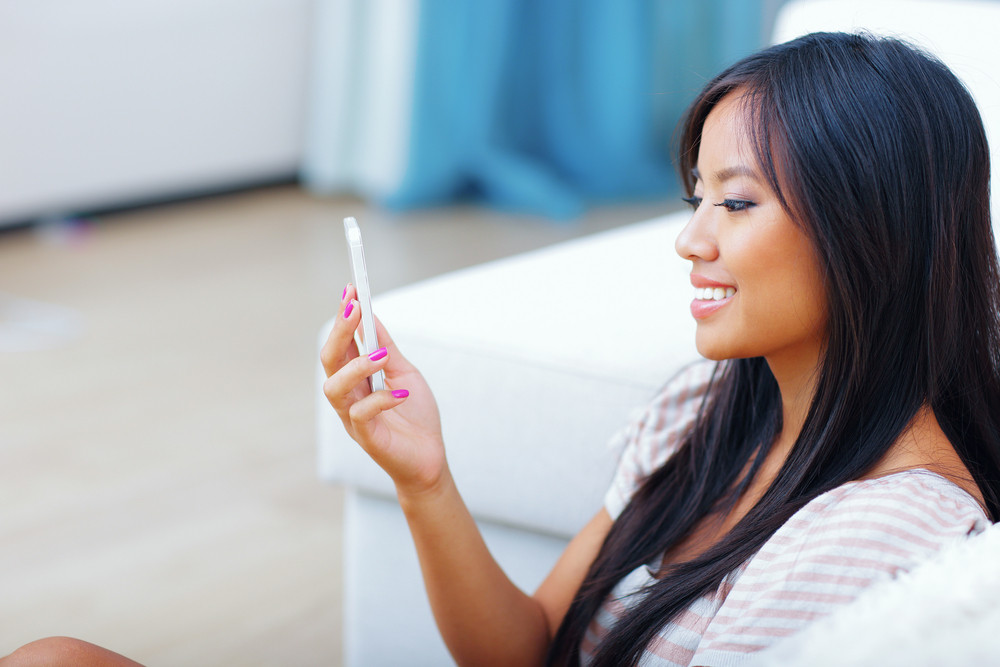 Girl holding phone