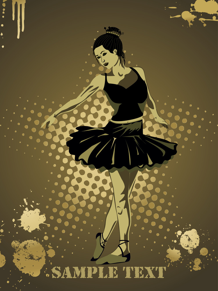 Girl In Black Dress Dancing