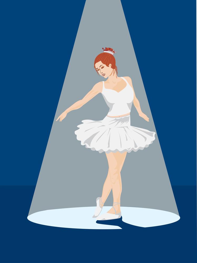 Girl In Nice White Dress Dancing