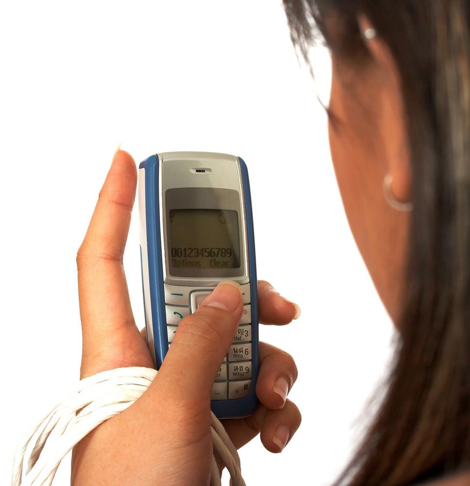 Girl Receiving A Text Message