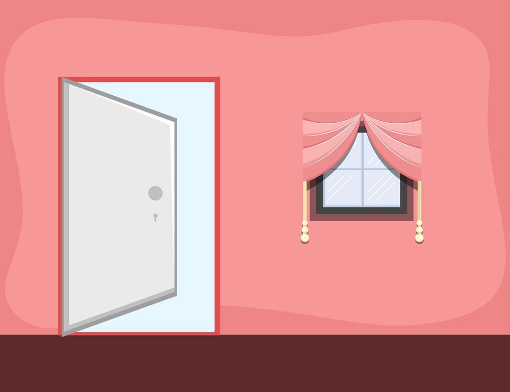 Girl Room - Cartoon Background Vector