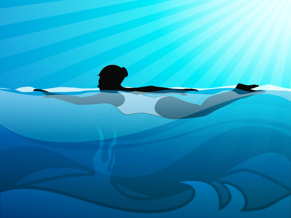 Girl Swimmer Doing Swimming