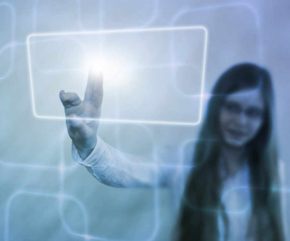 Girl Using Touch Screen
