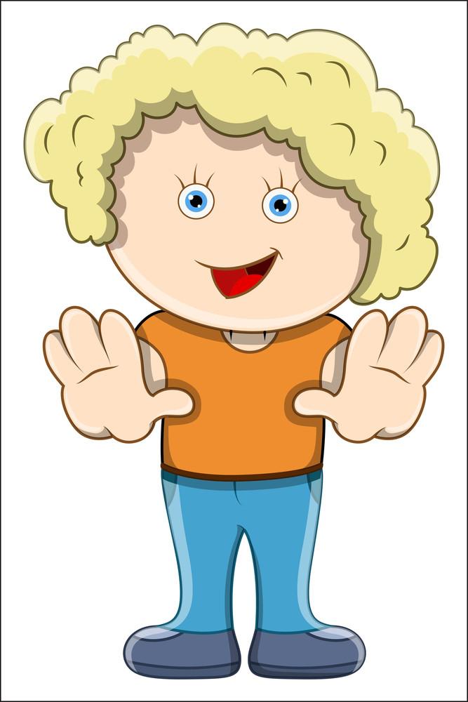 Girl - Vector Cartoon Illustration