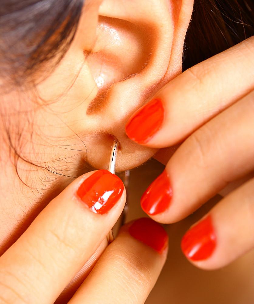 Girl Wearing Gorgeous Earrings