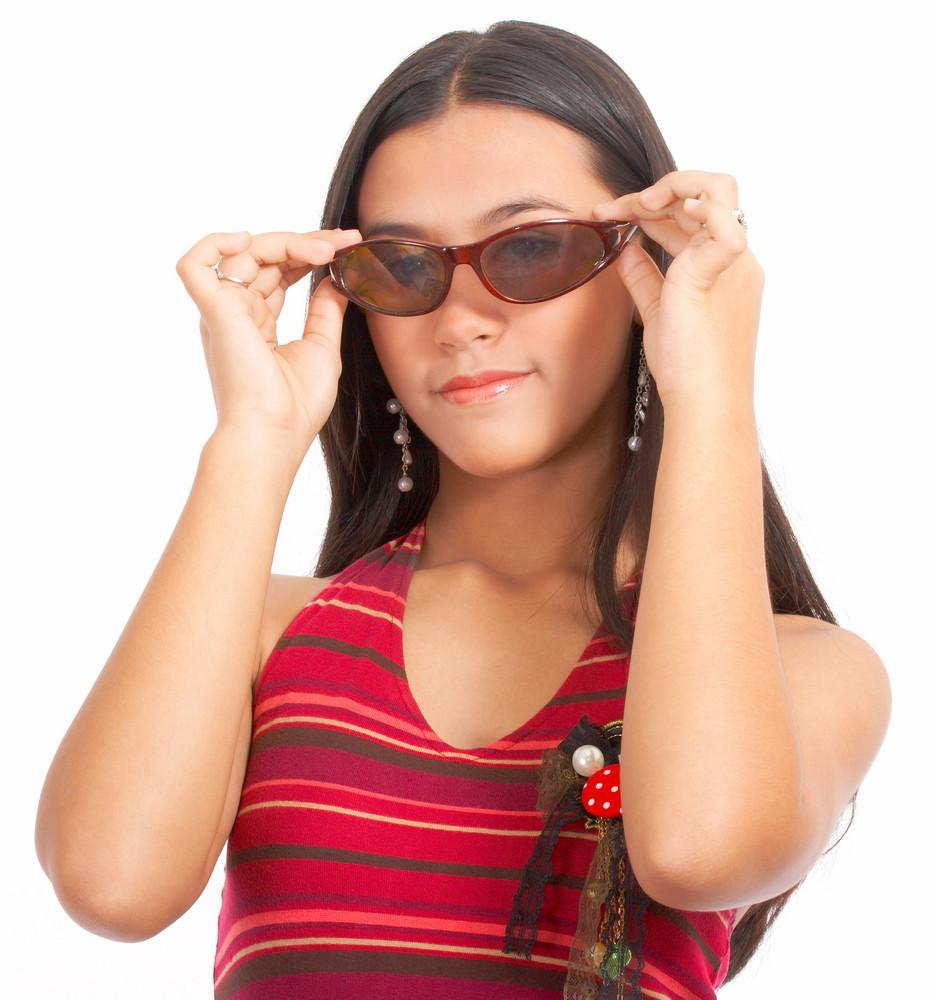 Girl Wearing Stylish Sunglasses