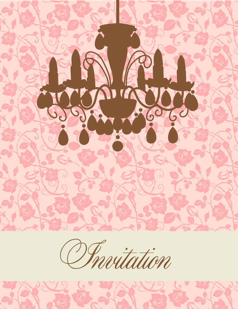 Glamour Invitation With A Lamp-