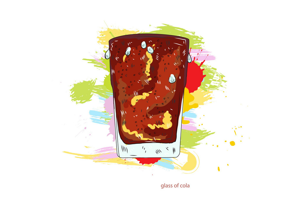 Glass Of Cola Vector  Illustration