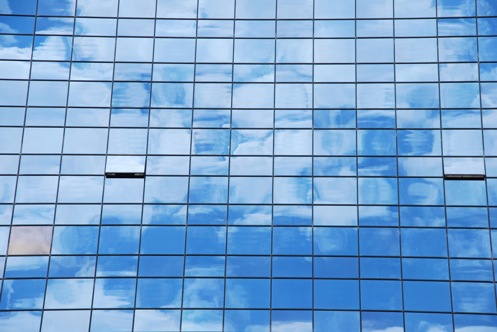 Glass Pattern (clouds Reflected)