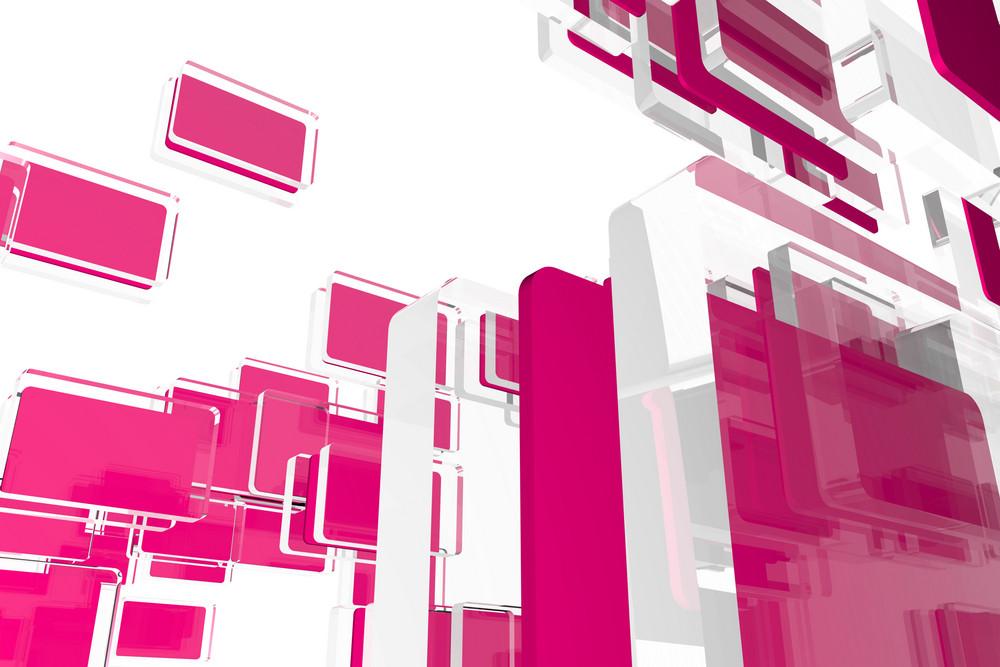 Glass Pink Cubes