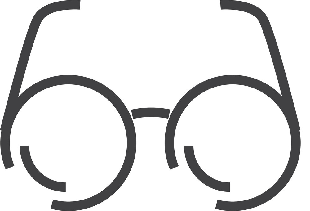 Glasses Minimal Icon