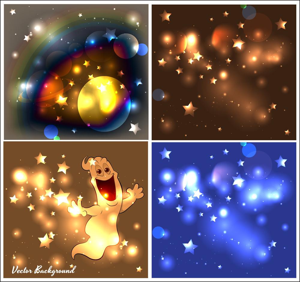 Glittering Lights Backgrounds Vectors