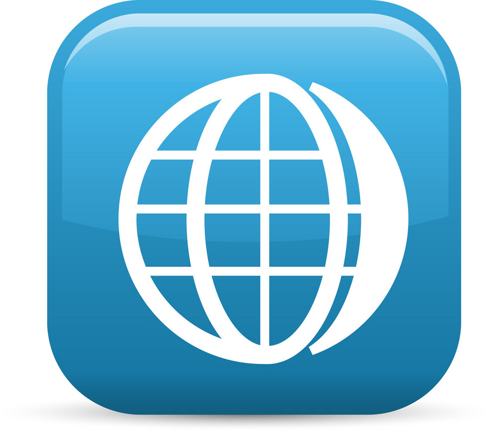 Global Network Elements Glossy Icon
