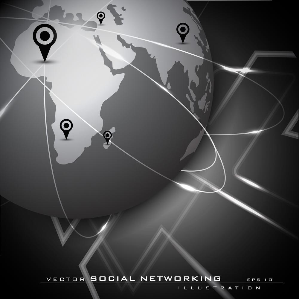 Global Social Network Background