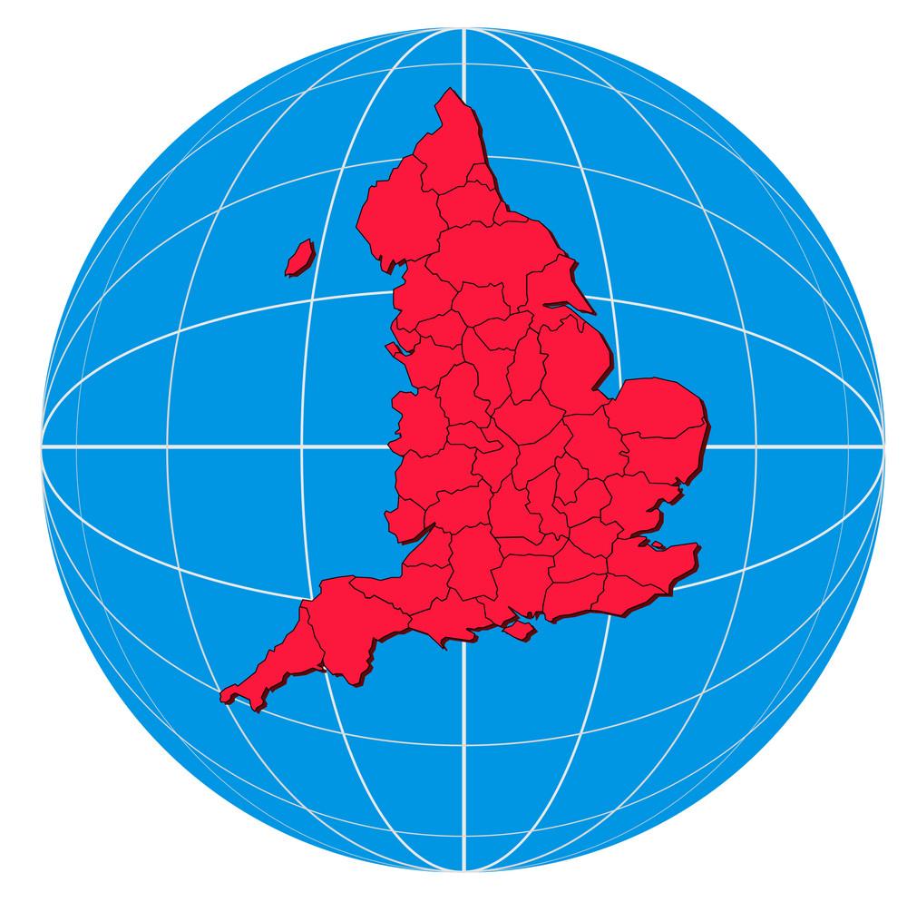 Globe England Map
