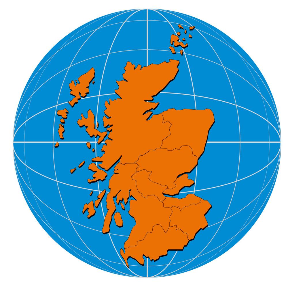 Globe Scotland Map