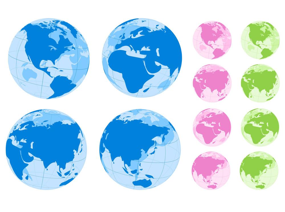 Globes. Vector.